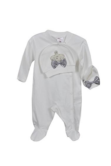 Sema Bebe Eda Lüks Tulum Set Bebek Giyim Saks